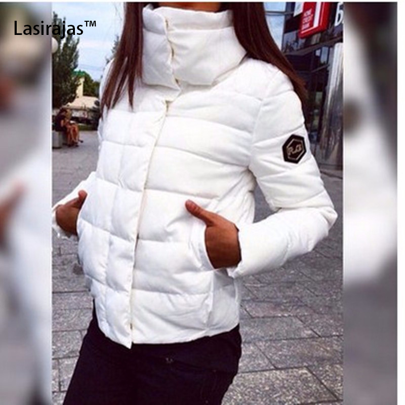 2016 Yeni Moda Marka kadın Kışlık Mont Katı Fermuar Uzun Kollu Kalın Pamuk Kadınlar Aşağı Parkas Kadın Palto Tutmak sıcak