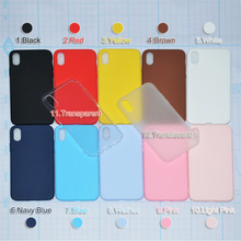 Phone Case For iPhone 7 6 6s 8 X Plus 5 5s SE XR XS Simple Solid Color Ultrathin Soft TPU Cases Candy Color Back Cover