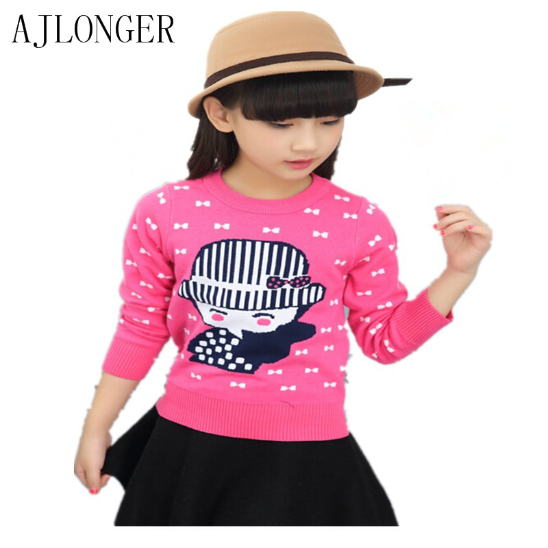 new winter cartoon baby girls sweater kids clothes children warm long sleeve for knitwear