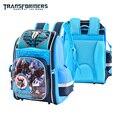 TRANSFORMADORES de seguridad de dibujos animados mochila ortopédica mochila bandolera cartera de libros para niños de Grado 2-6