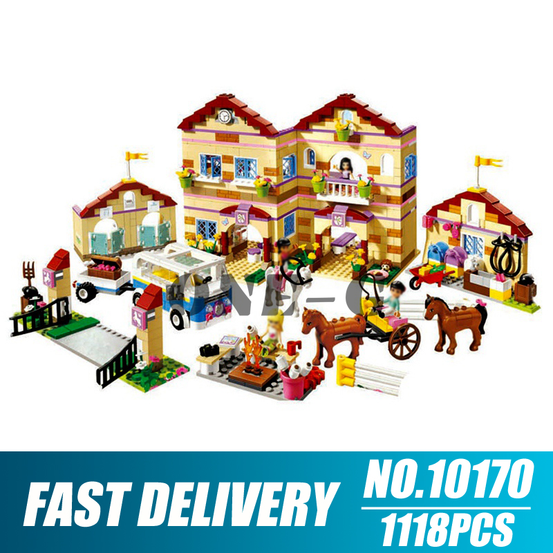 빌딩 블록 10170 친구 시리즈와 호환 3185 벽돌 공주 여름 승마 캠프 피규어 어린이를위한 장난감-에서블록부터 완구 & 취미 의  그룹 1
