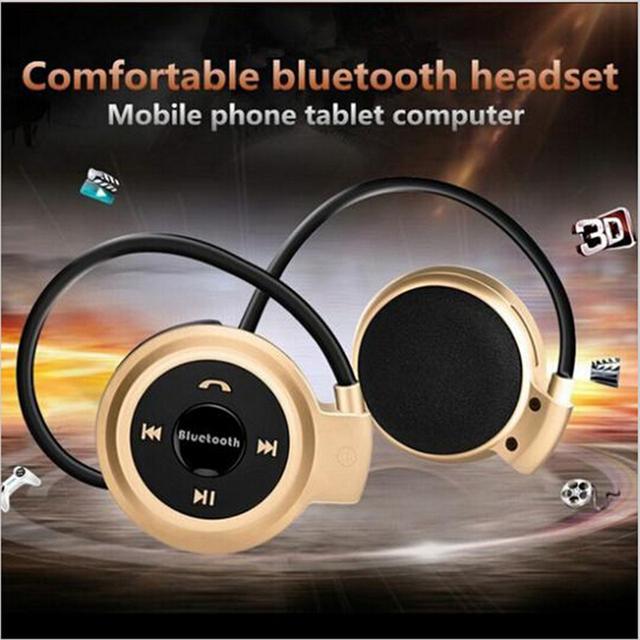 HOMEBARL Mini503 Bluetooth 4.0 Headset 503 Mini Sport Wireless Headphones Music Stereo Earphones+Micro SD Card Slot+FM Speakers