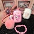 2017 diamond Hello Kitty gato de dibujos animados de Lujo 12000 mAh USB Banco Portable de la Energía Del Cargador de Batería con el paquete para todos los teléfonos