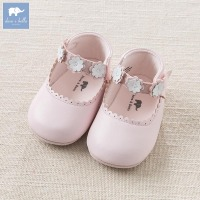 DB6988 Dave Bella Baby Girls Soft First Walkers Baby Genuine Leather Shoes