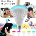 12W Wireless Bluetooth Speaker Dimmable RGB LED Bulb 85V-265V E27 LED RGB Light Music Player Playing Lamp With Remote Control