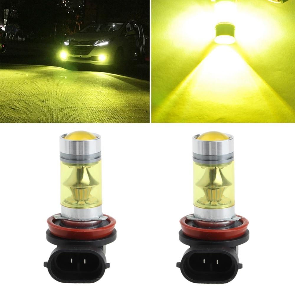 new arrival 1pair 3030 80w h8 h11 high power led car fog lights or10 1 Pair 100W High Power H11/H8 20 LED Fog Light 3030 Yellow Driving Bulb 9-30V