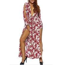2017 frauen Asymmetrische Sexy Schlauchoberseitenkleid side split kleid frühling roten Kleid Langarm mädchen vestidos de festa abend party