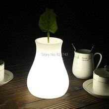 цена Free shipping Waterproof Multicolor Vase Lumineux LED OLIO Flower pot,Color chaning plant pot of decor Vase table/ Night Light онлайн в 2017 году
