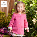 DB4389 dave bella spring new girls casual outerwear fashinable children clothes rose outerwear