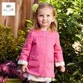DB4389 fashinable de dave bella nueva primavera niñas prendas de vestir exteriores ocasional niños ropa ropa de abrigo rosa