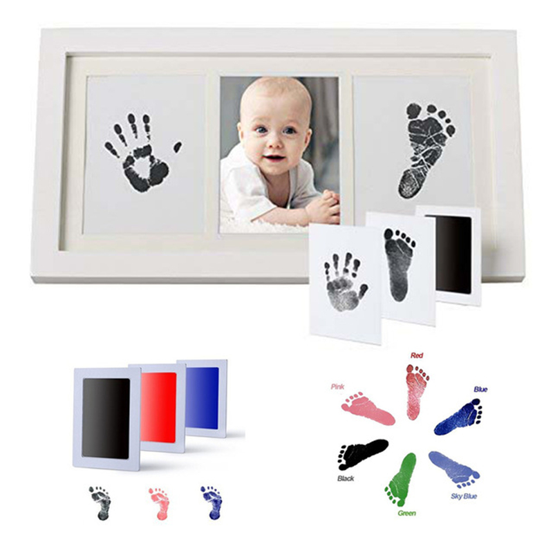 Baby Care Handprint Footprint Cute Baby Non-Toxic Hygienic Printing Is Very Convenient Baby's True Memories And Clay Gift