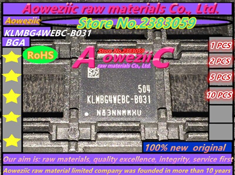 Aoweziic (1PCS) (2PCS) (5PCS) (10PCS) 100% new original KLMBG4WEBC-B031 BGA EMMC 32GB memory chip KLMBG4WEBC B031