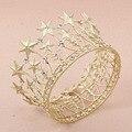 Wedding Bridal Bridesmaid Star Women Girls Gold Plated Crystal Tiara Crown Headband