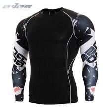 4XL Long Sleeve Gym Shirt Men Quick Dry Running T-shirts Sports Clothing Fitness Top T Mens Rashgard Soccer Tights