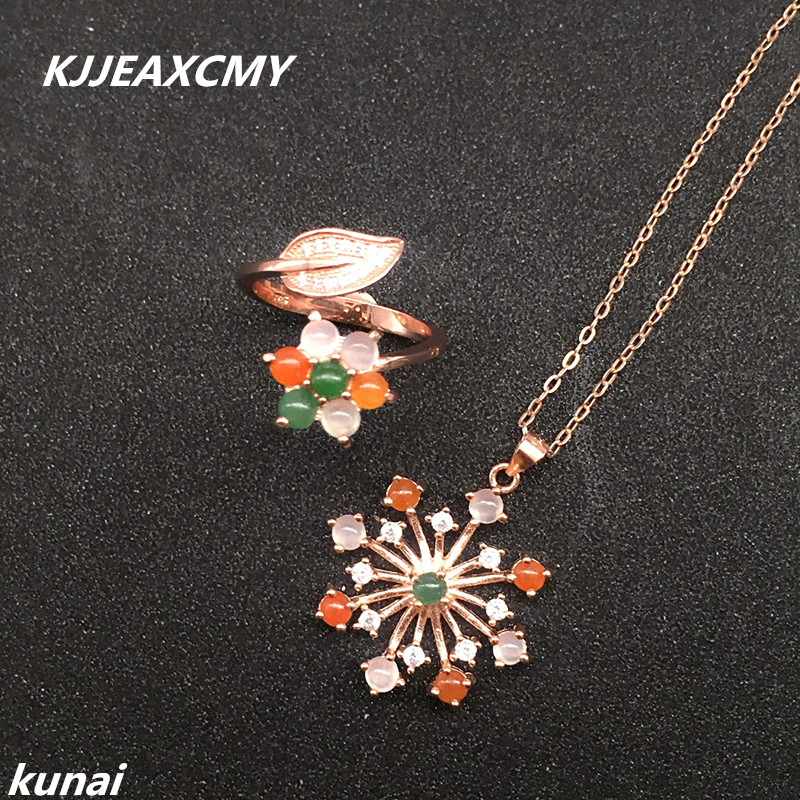 KJJEAXCMY Fine jewelry, Colorful jewelry female 925 silver inlay natural jade set, simple and generous wholesaleKJJEAXCMY Fine jewelry, Colorful jewelry female 925 silver inlay natural jade set, simple and generous wholesale