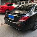 R RT стиль автомобиля Стайлинг углеродного волокна задний багажник губ хвост крыло спойлер сплиттер для Mercedes Benz W213 4-дверь седан