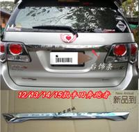 ABS Chrome Rear Trunk Door Lid Tail gate Cover Trims For Toyota Fortuner 2012 2013 2014 2015 BY EMS