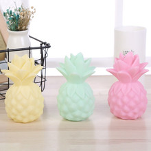 все цены на Pineapple LED Night Light Fruit Table Lamp Creative Home Decoration Nightlight Bedroom Bedside Lamp for Children Kids Baby Gift