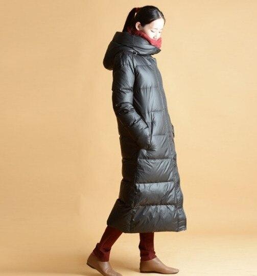 fe4c565089 Tamanho S--10XL Longo Mulheres Jaqueta de Inverno Para Baixo Casaco de  Inverno Quente Com Capuz Para Baixo Mulheres Casaco Com Capuz Grande