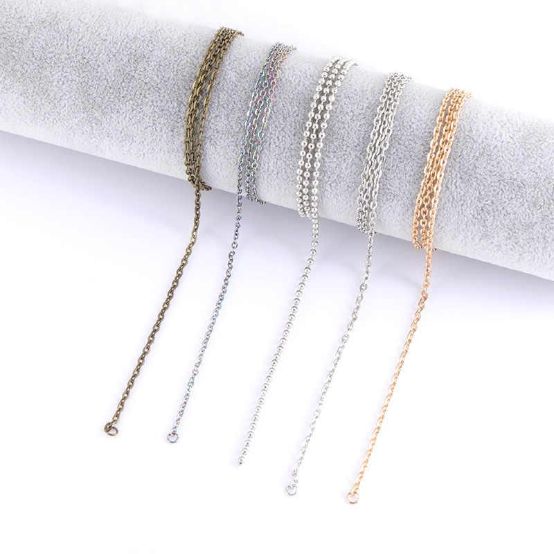 10 ピース/ロット幅 2 ミリメートル 60 センチメートルステンレス鋼鉄金属のネックレスチェーンバルク複数色ネックレスブレスレット発見ジュエリー作る