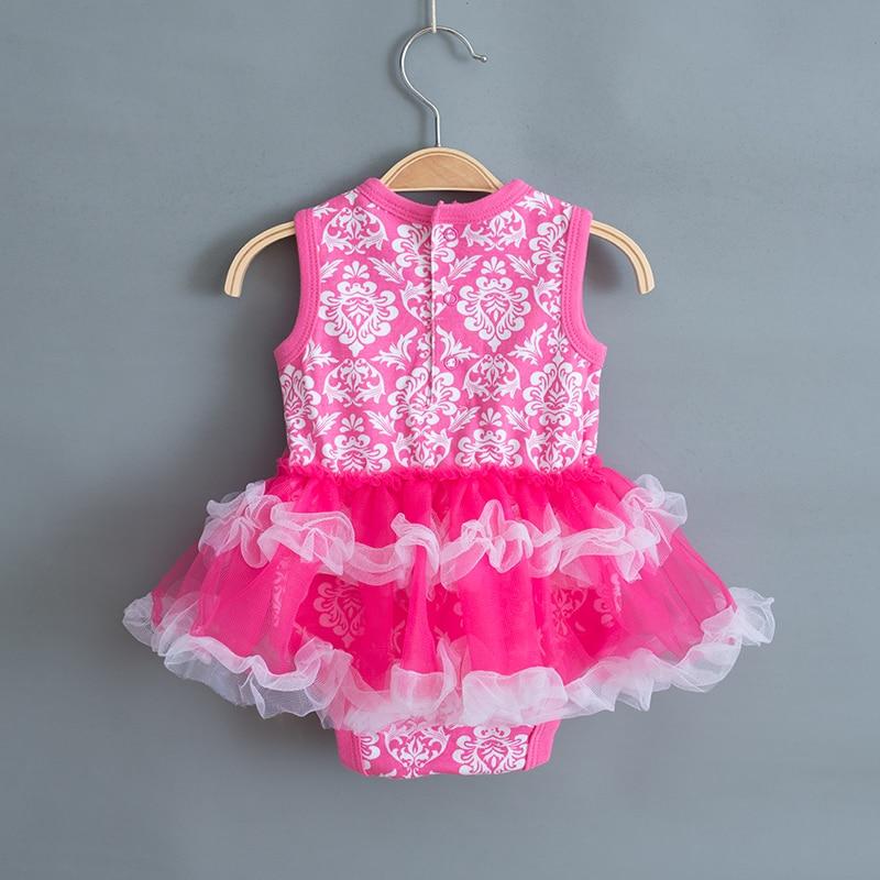 Druk dla dzieci Girls Dress 2018 Summer Infant Party Dress na 1 rok - Odzież dla niemowląt - Zdjęcie 6