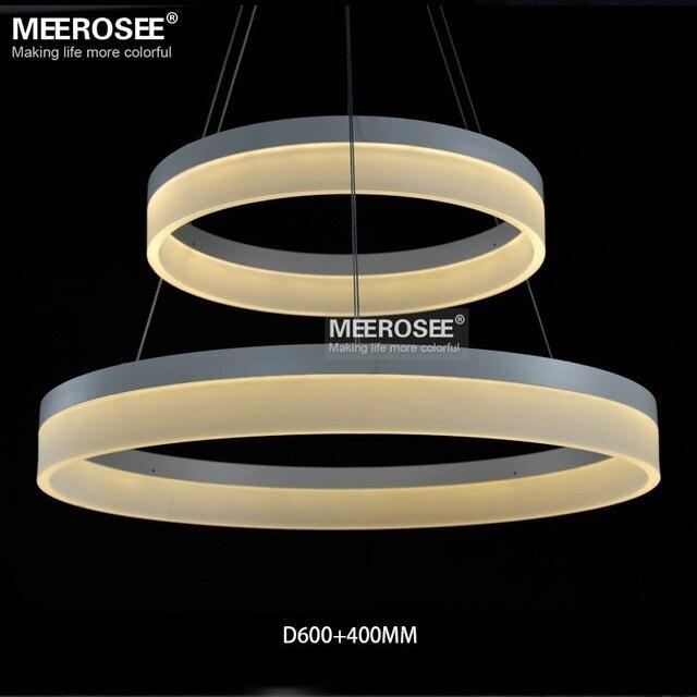 LED Round Chandelier Modern Acrylic Lamp Light for Dinning Room LED Lustres 3 Rings Restaurant LED Hanging Light Fixture