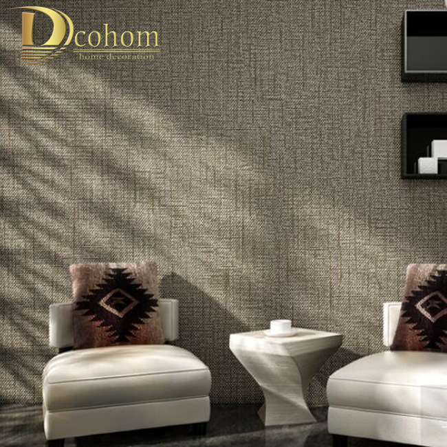 modern minimalist solid color textured wallpaper for walls decor non woven stripes 3d wall paper - Wallpaper Decor