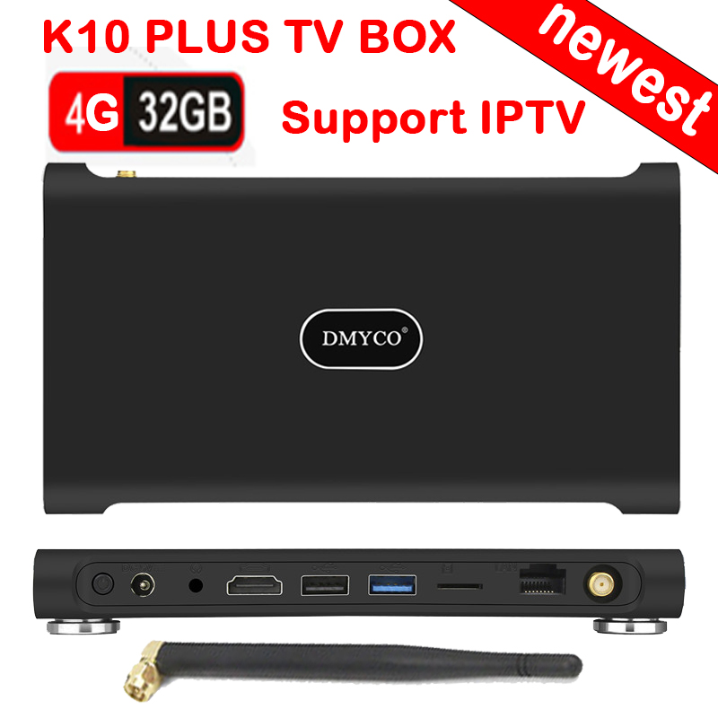 K10 PLUS Smart TV Box Android 7.1 RK3399 Dual-core M65+ 4G+32G Media Player 2.4G+5G Dual WiFi Bluetooth Set Top Box PK H96 max ugoos ut3s android linux dual boot rk3288 4g 32g media player