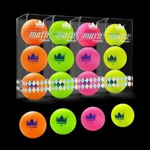 Image 1 - ¡Artesano 12 Uds. Pelotas de Golf mate acabado de larga distancia 2 piezas mate bolas de Golf 12 Paquete de bolas de color mate nuevo!