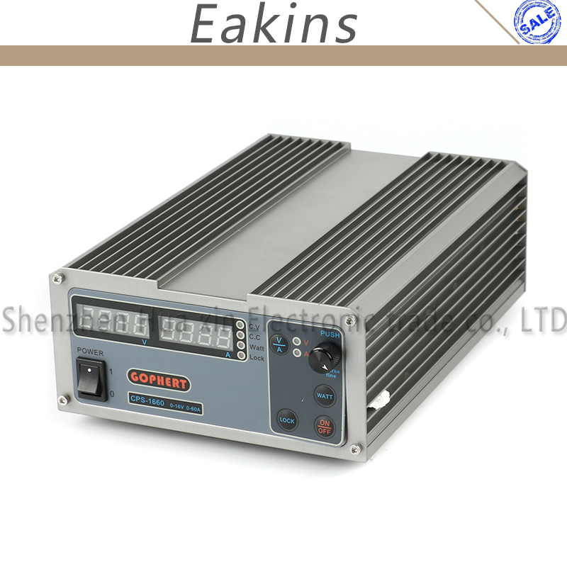 CPS1660 Haute Puissance Numérique DC Alimentation 16 v 60A Réglable Compact Laboratoire Alimentation 220 v