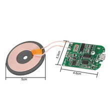 DC 9V 2A 10W DIY Qi Fast Wireless Charger PCBA Circuit Board Transmitter USB Port Module Coil Charging Replacment For SmartPhone 10w high power fast charging 3 coil diy wireless charging module pcba qi mobile wireless charging board