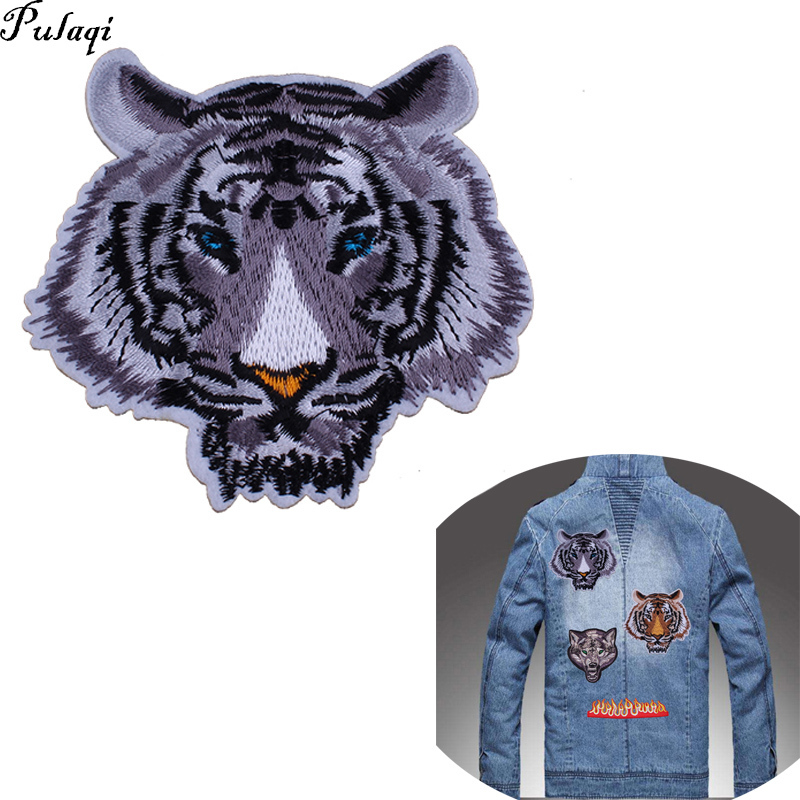 Lion Patch Embroidered Badge Iron On Sew On Clothes T Shirt Jacket Coat Jeans