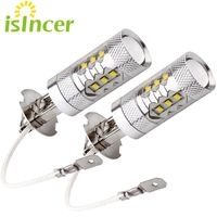 2pcs Lot H3 Led Car Light Cree Chip 80w Led Fog Light Lamp Bulbs Kit For