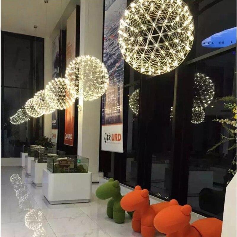Modern Led Pendant Lights Lamp Ball Nordic Creative suspension luminaire Stainless steel industrial decor loft hanglamp AC 220V