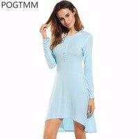 여름 섹시한 잠옷 긴 Nightdress 모달 잠옷 여성 수면 밤 드레스 전면 버튼 잠옷 Homewear 잠옷 옷 L3