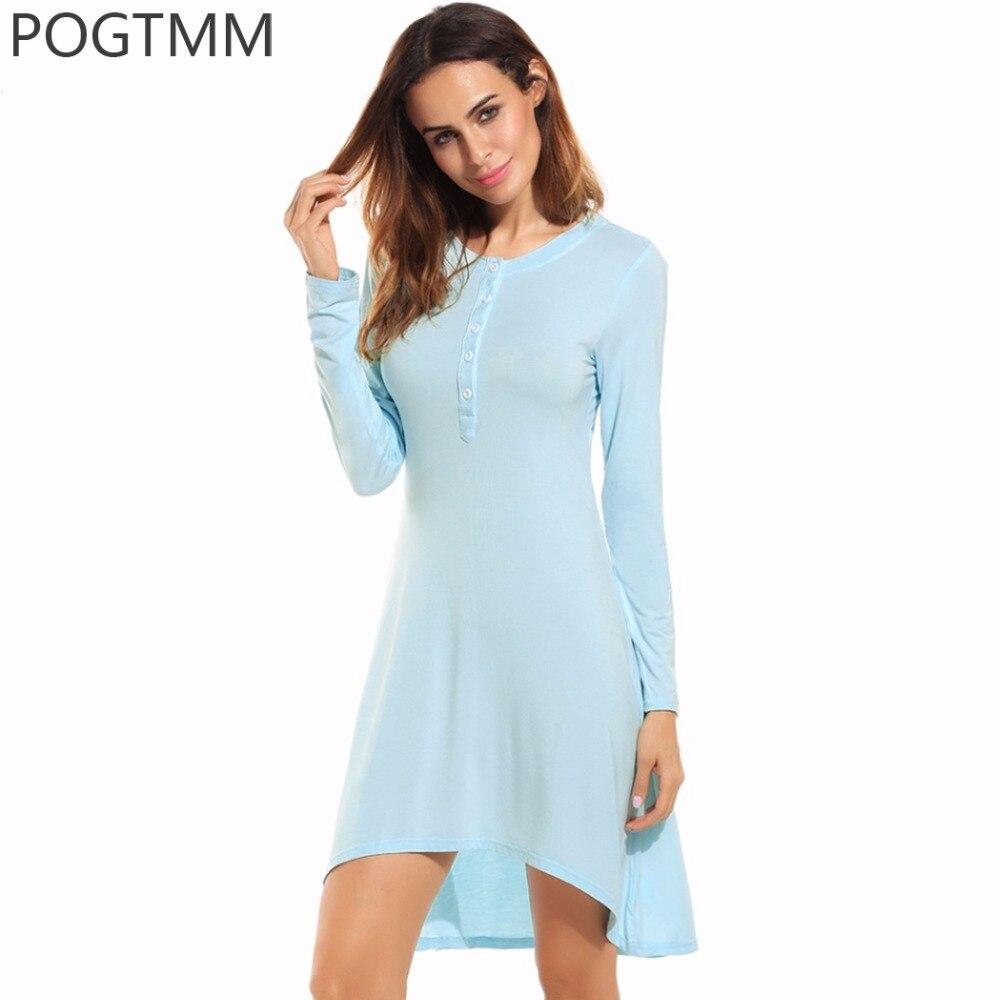 Summer Sexy Sleepwear Long Nightdress Modal Nightgown -8313