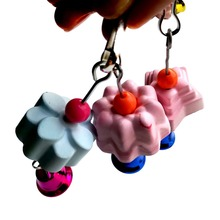 Pet Bird Chew toy Parrot Stone Flower Shape Hanging Chewing Toys With bells Bird Swing Toy Parakeet Stand Rack