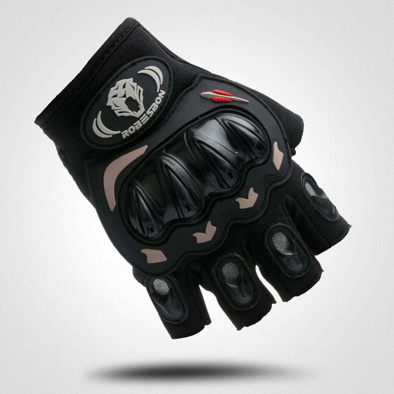 Cycling Bicycle Bike Gloves Sports Half Finger Anti Slip Gel Gloves Mittens guantes ciclismo Black Size M- XL SAICHE-01B