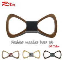 New 2016 Red Xin Brand Fashion Handmade Wood Bow ties Bowtie Butterfly Gravata Ties For Men Hollow out Geometric Wooden bow tie