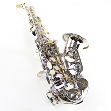 French Selmer Replica Saxophone B Soprano Bend Henry Reference 54 Surface Nickel Plating Saxfone Mouthpiece with Case