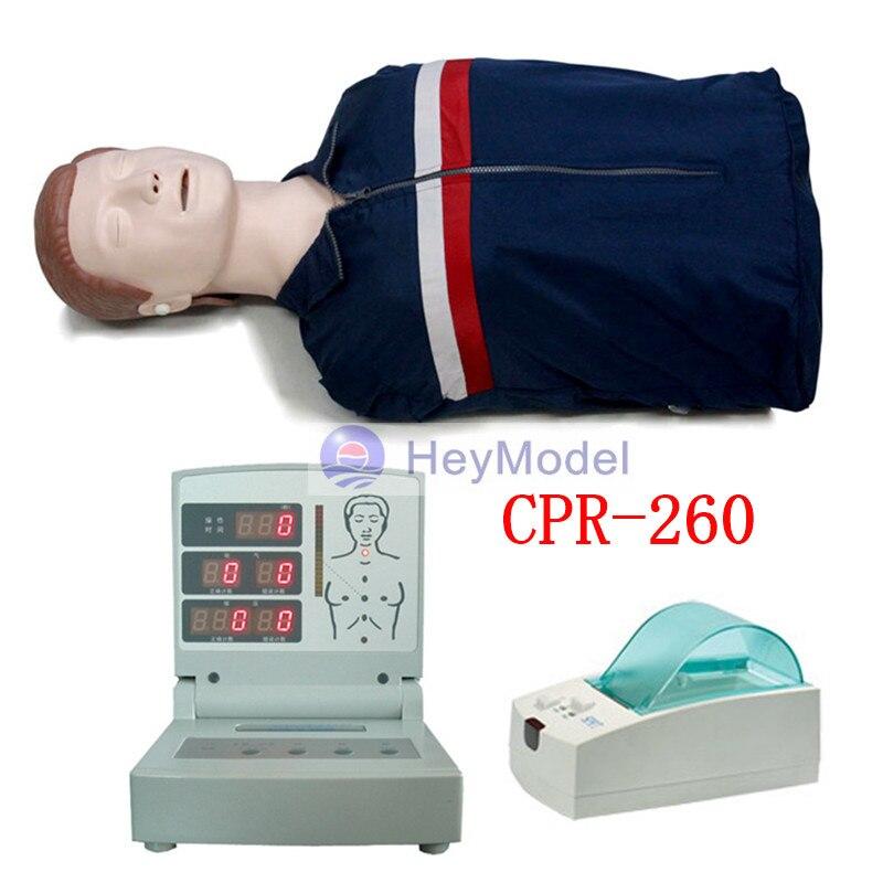 HeyModel Half Body CPR Sim Cardiopulmonary Resuscitation Model Recovery First Aid Training Manikin with print function CPR-260 manikins medical training simulators automated abdominal cardiopulmonary palpation and auscultation manikin gasen pem0001