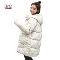 MLinina Hooded Long Down Parkas Women Down Jacket Winter Coat Cotton Padded Jackets Woman Winter Parka Thick Warm Coat Female