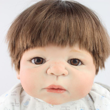 58cm Full Body Silicone Reborn Baby Boy Dolls Lifelike Baby Alive Doll For Child Bathe Shower Bedtime Toy Doll Collection