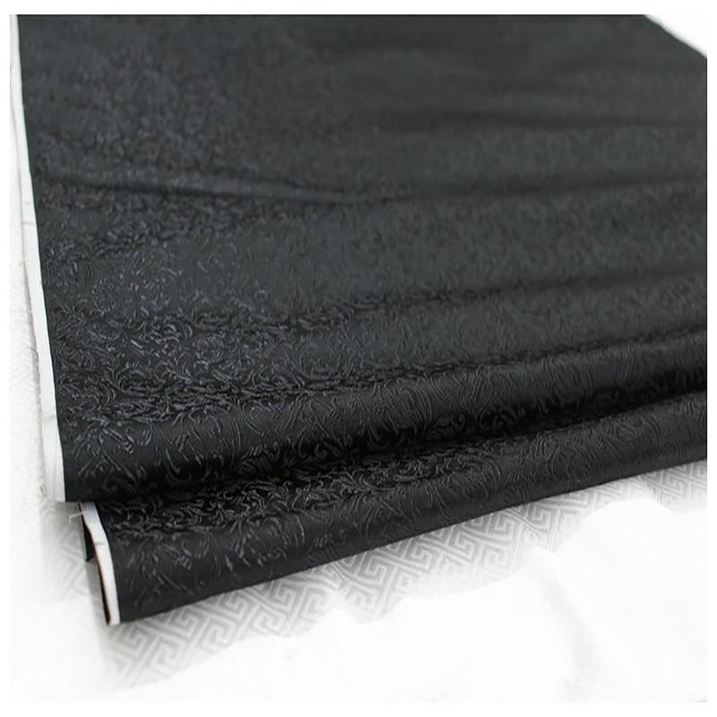 Brocado HLQON malte telas da folha de cama tecido patchwork tecido feltro flor preta vestido cheongsam crianças casaco de pano 75cm de largura