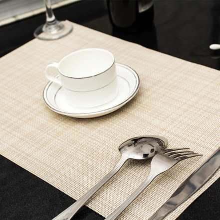 Marvelous 4pcs/set Pvc Solid Color Placemat Dining Table Mats Set De Table Bowl Pad  Napkin