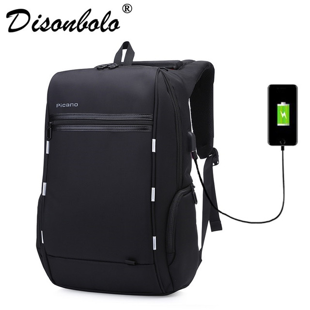 c087b7d0c1 Design Anti-theft Usb Charging Travel Backpack Smart Business Backpack Men  Classic Black 15.6 Inch