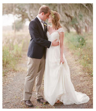 SoDigne 2019 Appliques Chiffon Wedding Dresses Sweetheart Neck Simple Sleeveless Bride dress A-Line Elegant Design