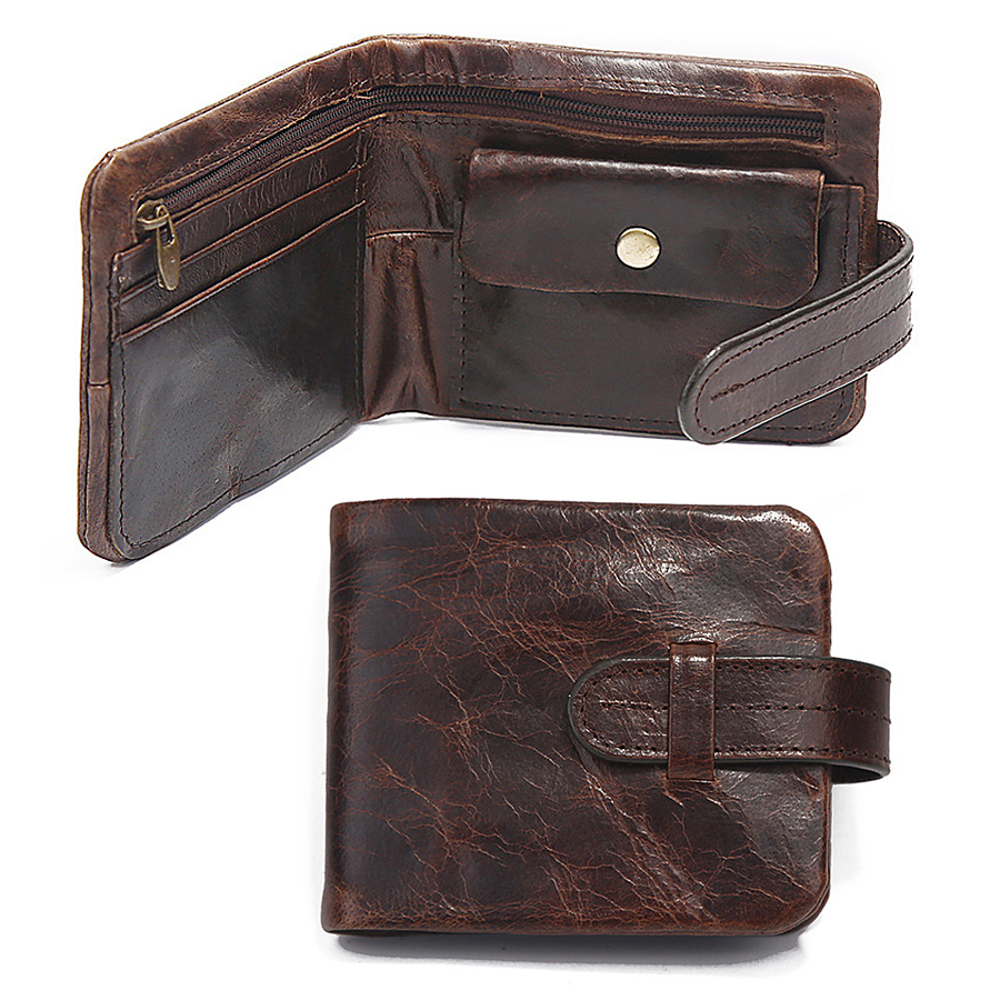 Classical Genuine Leather Mens Wallets Short Fund 2 Folds Oil Bright Style Hasp Business Casual Coins Change Pocket Purse Wallet frank buytendijk dealing with dilemmas where business analytics fall short