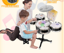 2018Children's Drums Drums Toys Beginner Getting Started Musical Instrument Knocking Drum Boys Girls With Light Multifunction