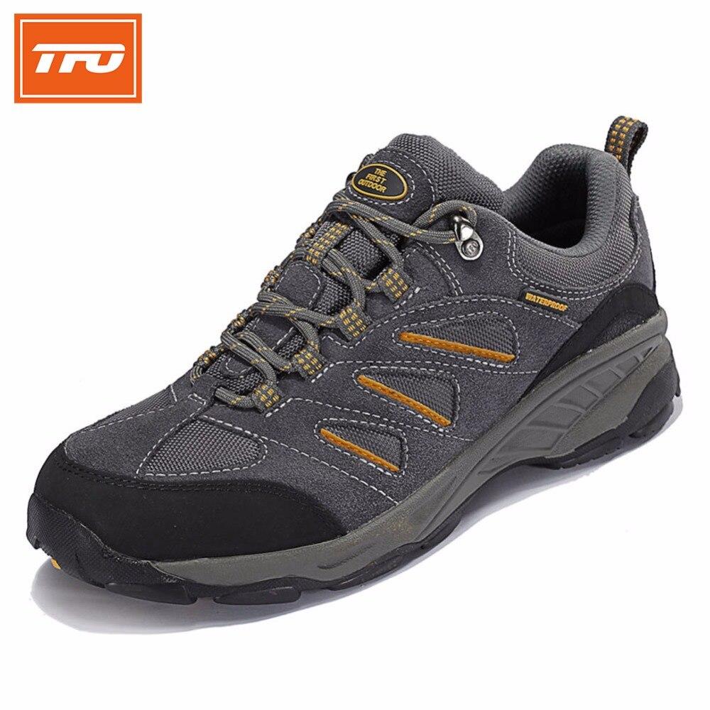 Tfo senderismo escalada zapatos de los hombres zapatillas de deporte respirables